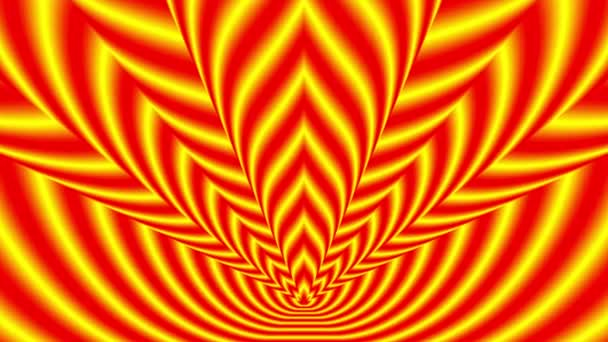 Oncoming symbols of red-yellow flame — Vidéo