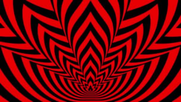 Oncoming symbols of red-black flame — Vidéo