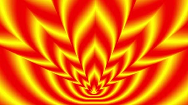 Oncoming symbols of orange-yellow flame — Vidéo