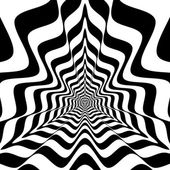 Abstract  triangles with concave waves — Stock Photo