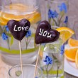 Chocolate Cake pops on the sticks in glass, wooden background — Stock Photo #58372749