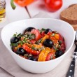 Hot salad from roasted sweet pepper — Stock Photo #67519423