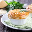 Chicken pot pie with cheese and basil — Stock Photo #73457729
