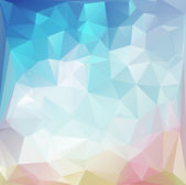 Blue Light Polygonal Mosaic Background, Vector illustration,  Business Design Templates — Stockvector