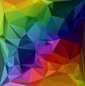 お祝い美しい多角形モザイク背景、ベクトル図では、創造的なビジネスのデザイン テンプレート — ストックベクタ