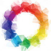 Circle Ring  Color Polygonal Mosaic Background, Vector illustration, Creative  Business Design Templates — Διανυσματικό Αρχείο