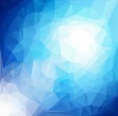 ブルー ホワイト光多角形モザイク背景、ベクトル図では、創造的なビジネスのデザイン テンプレート — ストックベクタ
