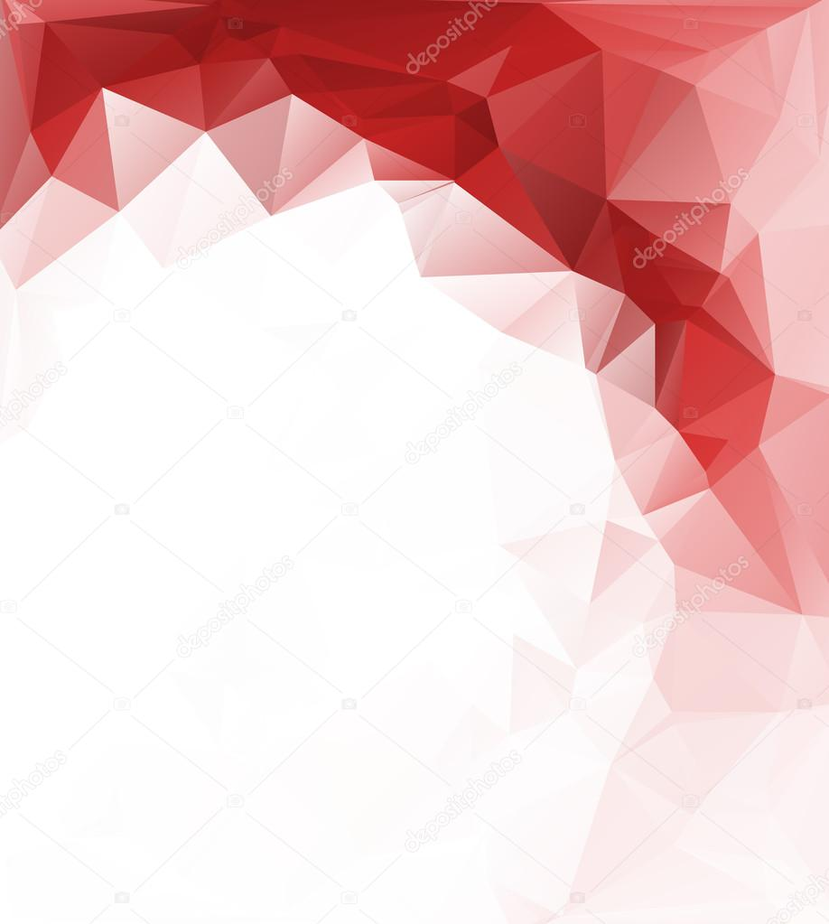 red white light polygonal mosaic background vector