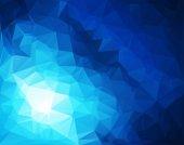 Blue White  Polygonal Mosaic Background, Vector illustration,  Creative  Business Design Templates  — 图库矢量图片
