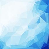 Blue White  Polygonal Mosaic Background, Vector illustration,  Creative  Business Design Templates — Stockvector