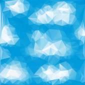 Blue White  Polygonal Mosaic Background, Vector illustration,  Creative  Business Design Templates — Stock Vector