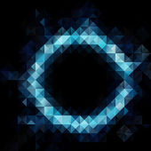 Blue Black Seamless Mosaic Background, Vector illustration,  Creative  Business Design Templates — Stock Vector