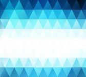 Mavi beyaz parlak mozaik renkli, yaratıcı tasarım şablonları — Stok Vektör