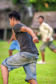 LORETO, PERU - JANUARY 02: Unidentified locals playing football — Stock Photo