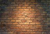 Iluminated Brick wall texture  — Stock Photo