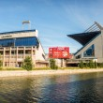 MADRID, JULY 1, 2014: Vicente Calderon stadium, home of Atletico — Stock Photo #62903477
