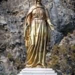 Big golden statue of the Virgin Mary in Ephesus — Stock Photo #62906641