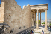 Athens, Greece - September 8, 2014: Tourists sightseeing the rui — Stock Photo