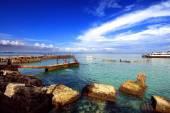Beach in Goree Island, Dakar, Senegal, Africa  — Foto de Stock
