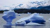 Imagens capturadas no glaciar perito moreno na patagônia (argentin — Fotografia Stock