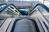 Escalator in an airport — Stock Photo