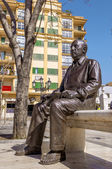 MALAGA, SPAIN - MAY 01:Pablo picasso statue shown on may 01, 201 — Stock Photo
