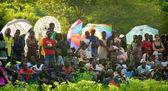 SENEGAL - SEPTEMBER 19: Spectators watching the traditional stru — Stock Photo