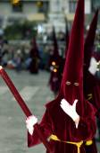 MALAGA, SPAIN - APRIL 12: Traditional processions of Holy Week i — Stock Photo