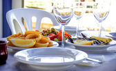 Typical andalusian food in summer — Stock Photo
