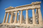 Partenone sull'acropoli di atene, grecia — Foto Stock