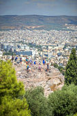 View from the Acropolis in Athens, Greece — ストック写真