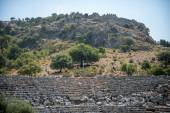 View of amphitheater ruins in Kaunos ancient city (Turkey) — ストック写真