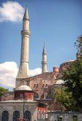 View of Hagia Sophia Mosque in Istanbul, Turkey — Stock Photo
