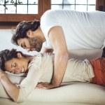 Young couple. Man massaging a woman — Stock Photo #66472213