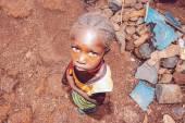 SENEGAL - SEPTEMBER 17: Little girl from the Bedic ethnicity, th — Stock Photo