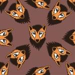 Cute fox seamless pattern  c — Stock Photo #65927635