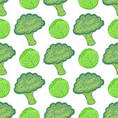 Seamless pattern with cabbages and broccolies — Stockvector