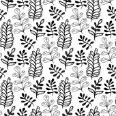 Hand drawn leaves background — Stock Vector