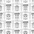 Cute houses seamless pattern. — Stock Vector #74920167