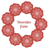 Ornamental flowers decors. — Stock Vector