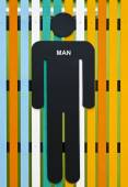 Adam tuvalet işareti — Stok fotoğraf