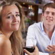 Couple On Unsuccessful Blind Date In Restaurant — Stock Photo #52606707