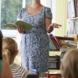 Elementary School Teacher With Pupils In Classroom — Stock Photo #52891865