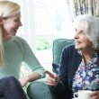 Teenage Granddaughter Visiting Grandmother — Stock Photo #52892641