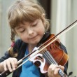 Young Girl Learning To Play Violin — Stock Photo #53903573