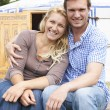 Couple Enjoying Camping Holiday In Traditional Yurt — Stock Photo #55067163