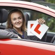 Teenage Girl Passing Driving Exam — Stock Photo #55080111