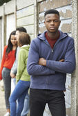 Gang Of Teenagers Hanging Out In Urban Environment — Stock Photo