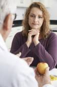 Plus Size Woman In Meeting With Dietitian — Stock Photo
