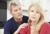 Mature Man Comforting Woman With Depression — Stock Photo